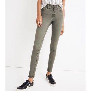 "Madewell 9"" High-Rise Skinny Jean Green Size 25"